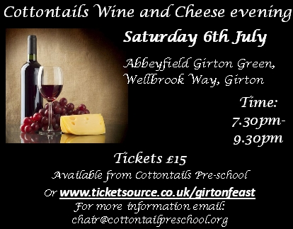 Cottontails Wine and Cheese Evening banner image