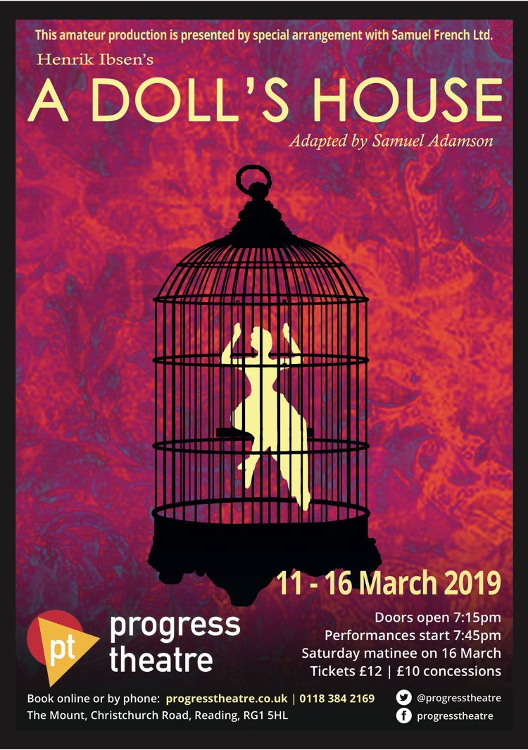 A Dolls House At Progress Theatre Event Tickets From TicketSource