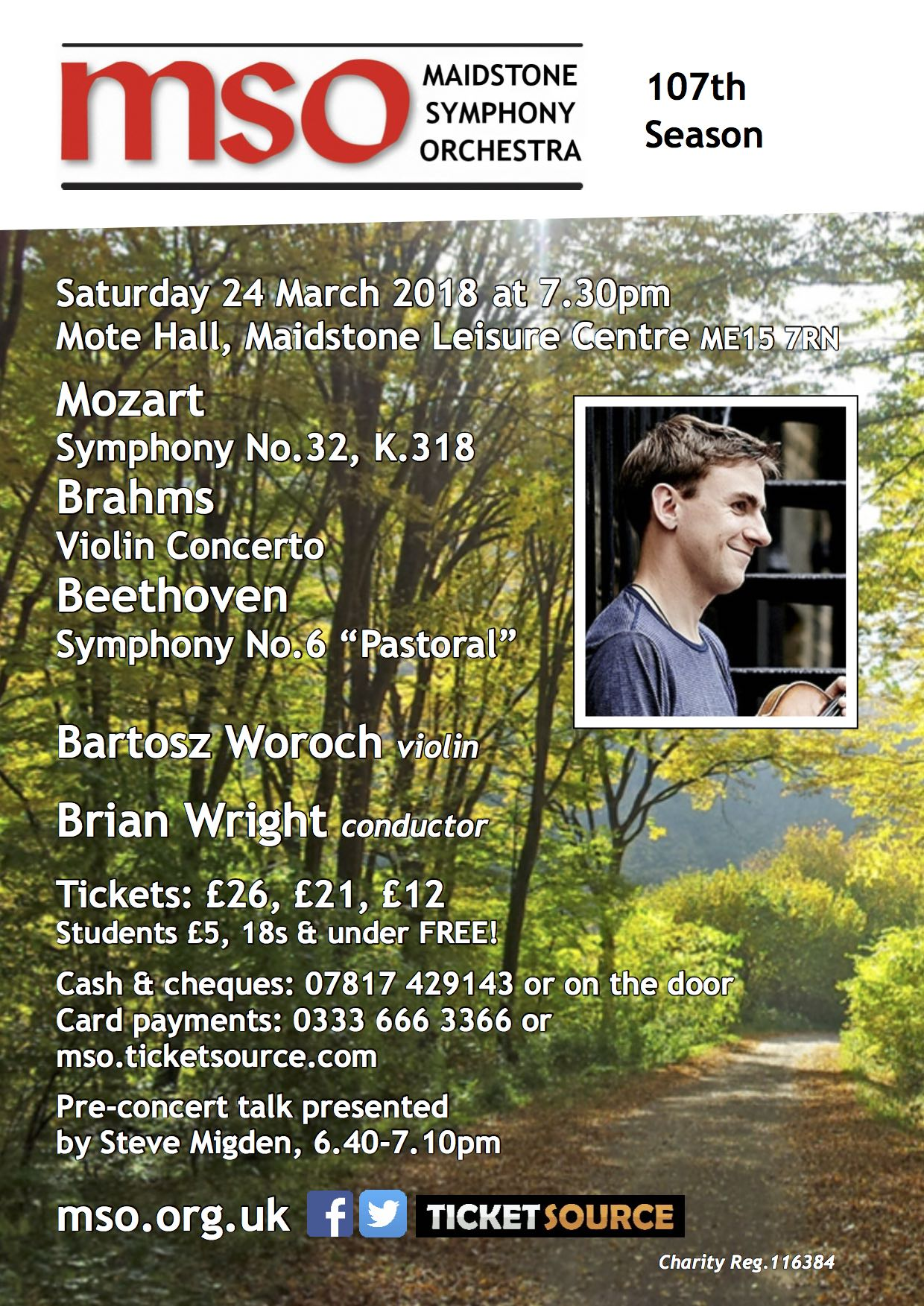 Concert 4: German Masters at Mote Hall event tickets from