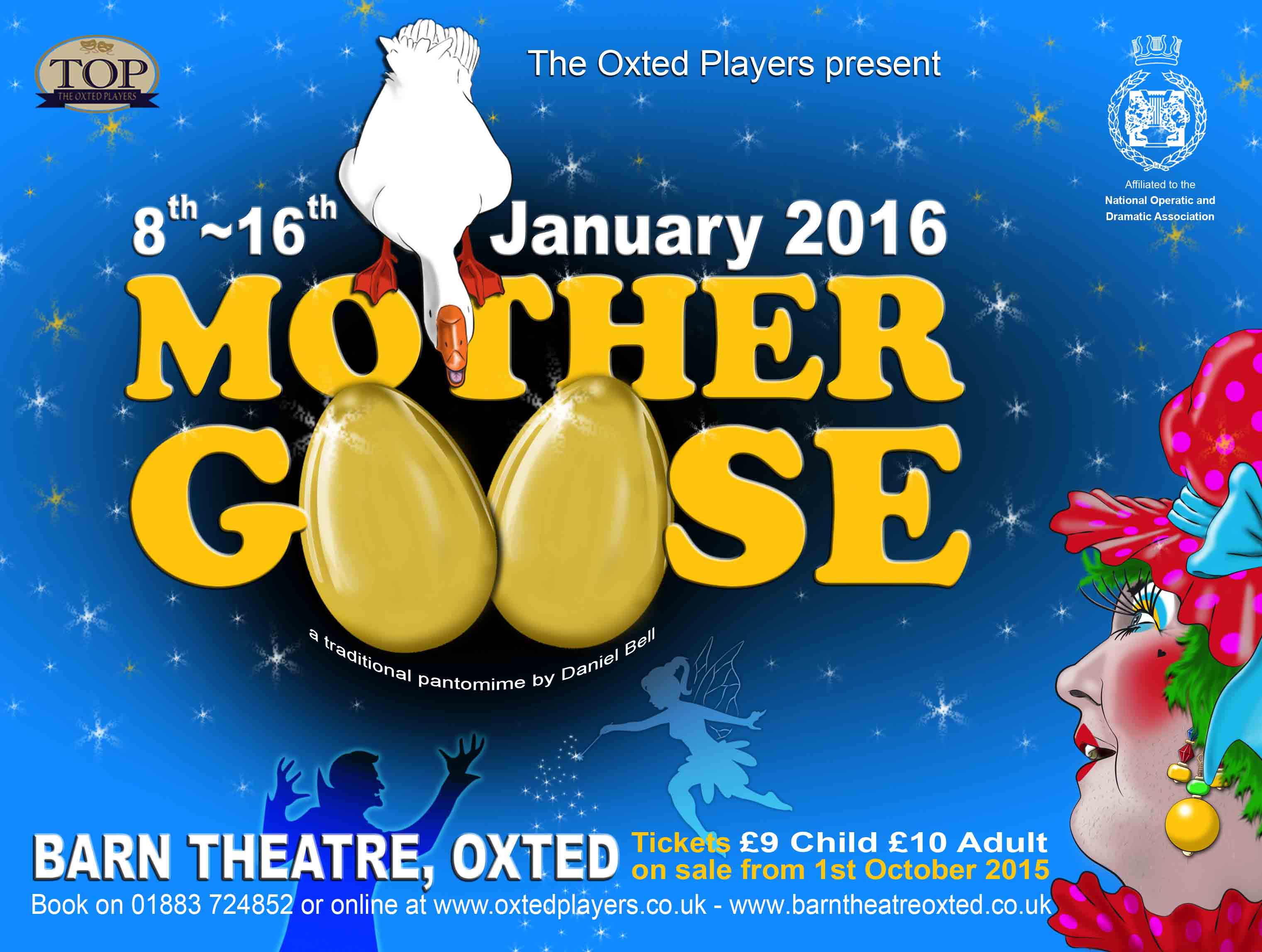 Mother Goose at The Barn Theatre event tickets from TicketSource