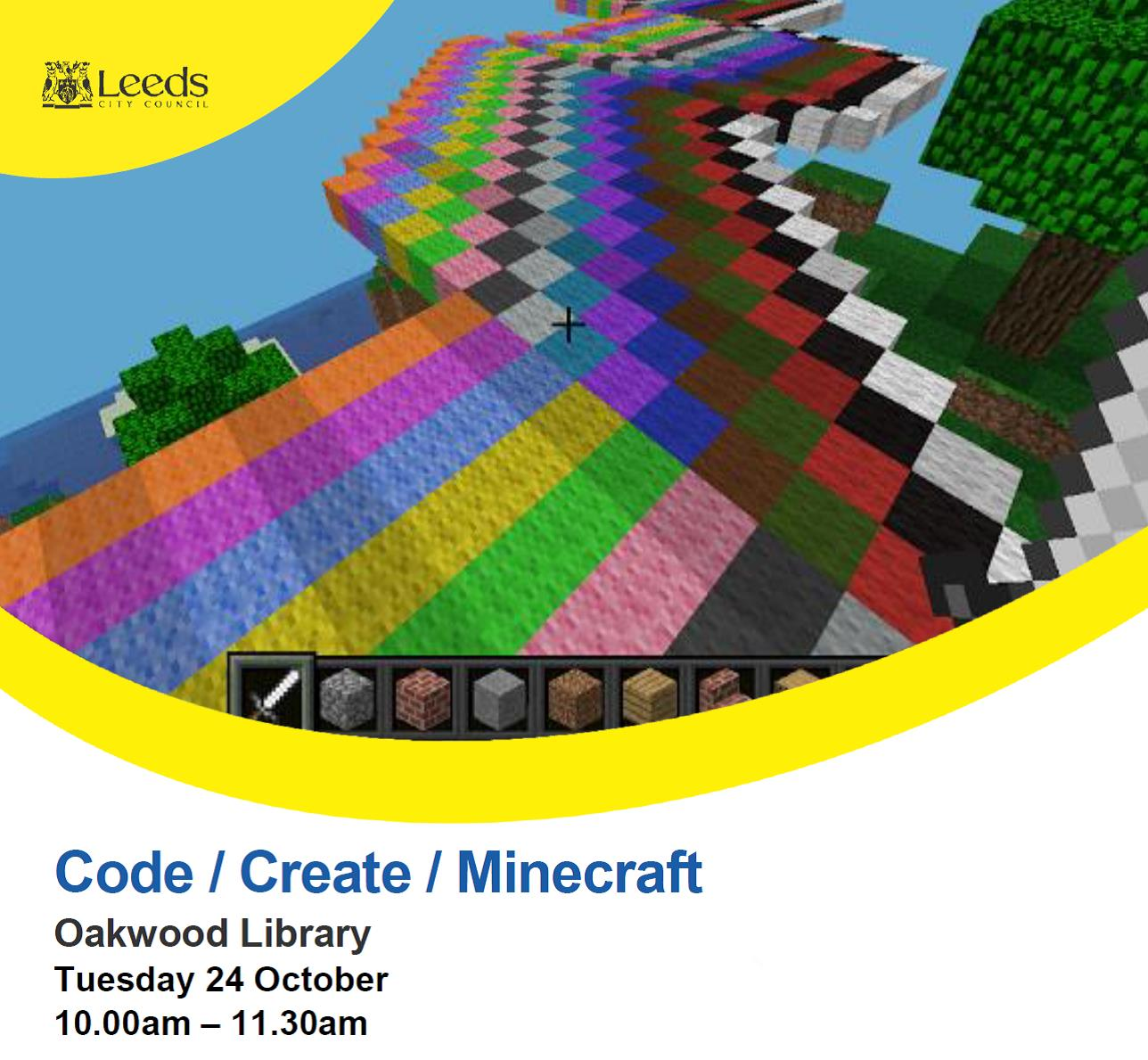 Code Create Minecraft at Oakwood Library event tickets from