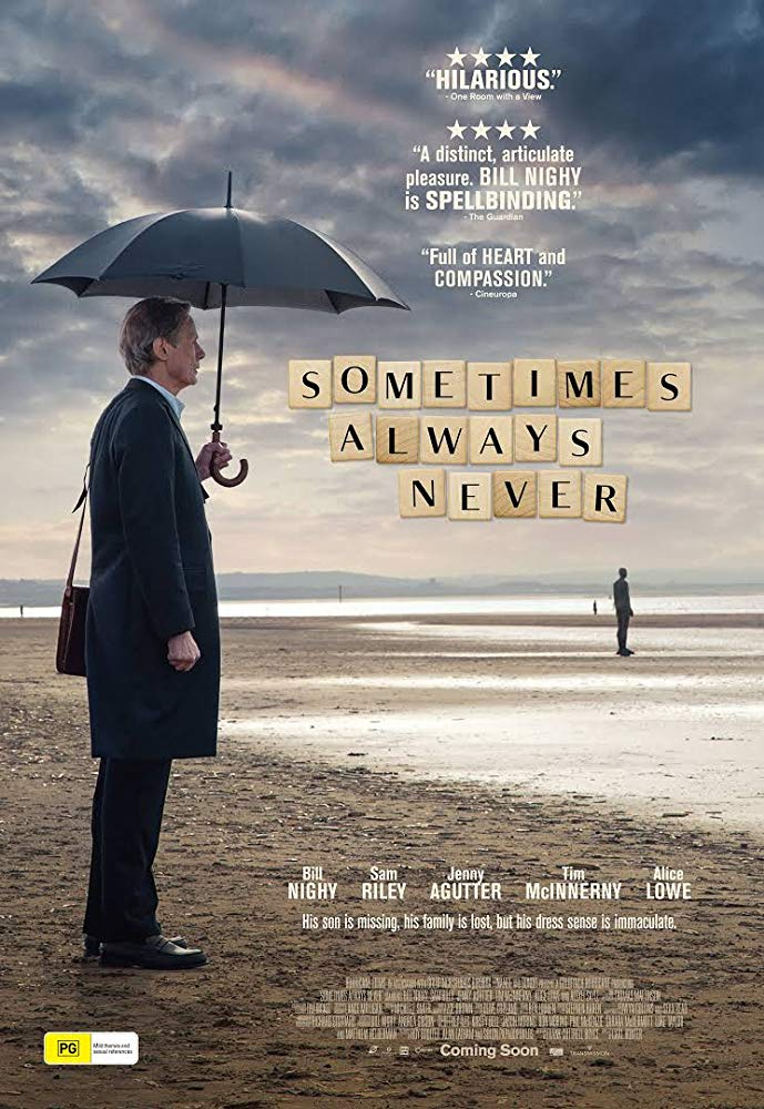 FilmHUB - SOMETIMES ALWAYS NEVER (2018) - Rated 12A  Click to read more - banner image