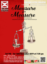 Measure for Measure by William Shakespeare adapt by Peter Scofield banner image