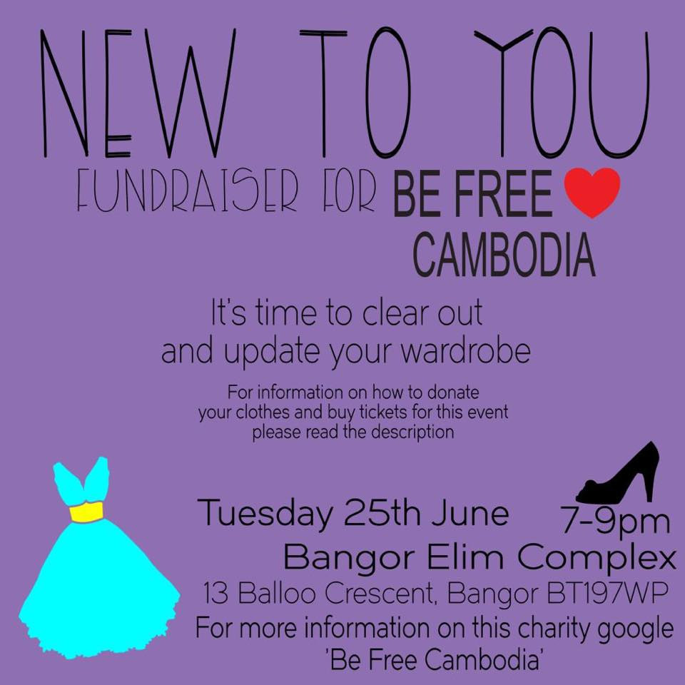 BE:Free Cambodia 'New To You' Fundraising Event banner image