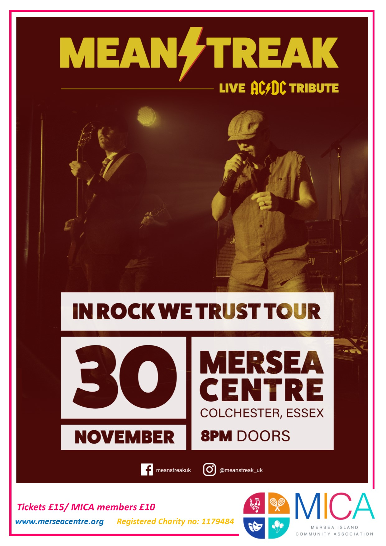 Meanstreak: LIVE AC/DC Tribute.  In Rock We Trust Tour banner image