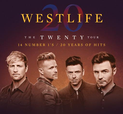 Westlife - The Twenty Tour, Live Screened banner image