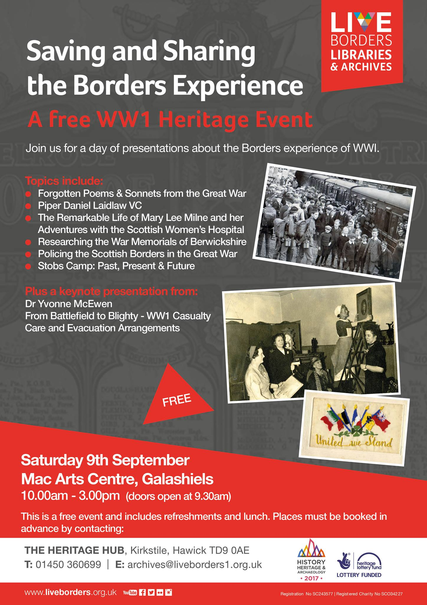 A Free WW1 Heritage Event- Saving and Sharing, The Borders