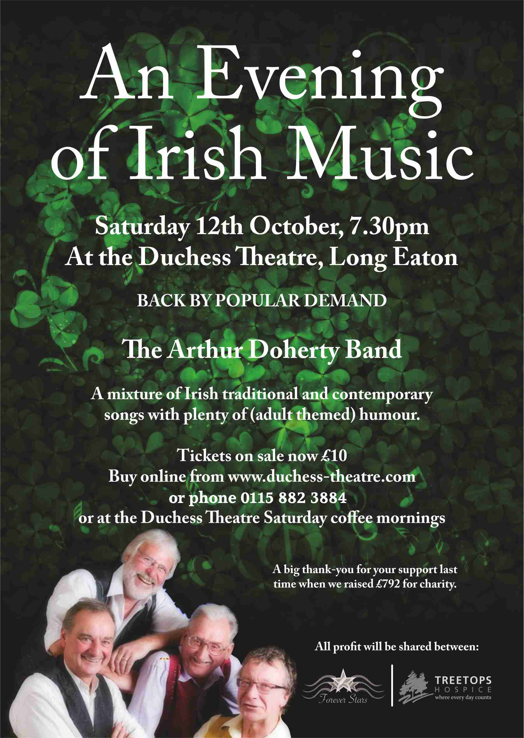 EVENING OF IRISH MUSIC - The Arthur Doherty Band banner image