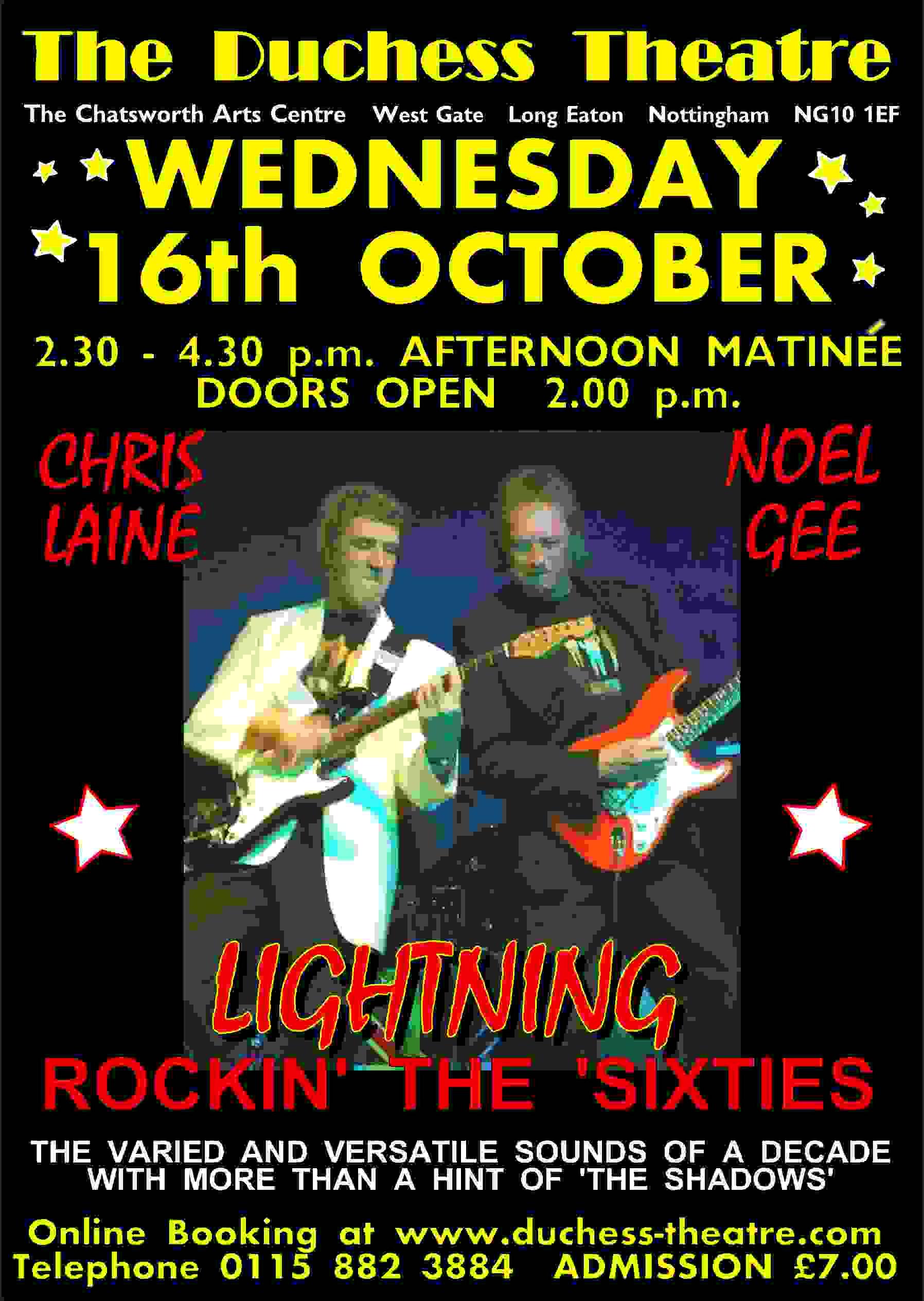 LIGHTNING Rockin' the 60's - Noel Gee Presents banner image