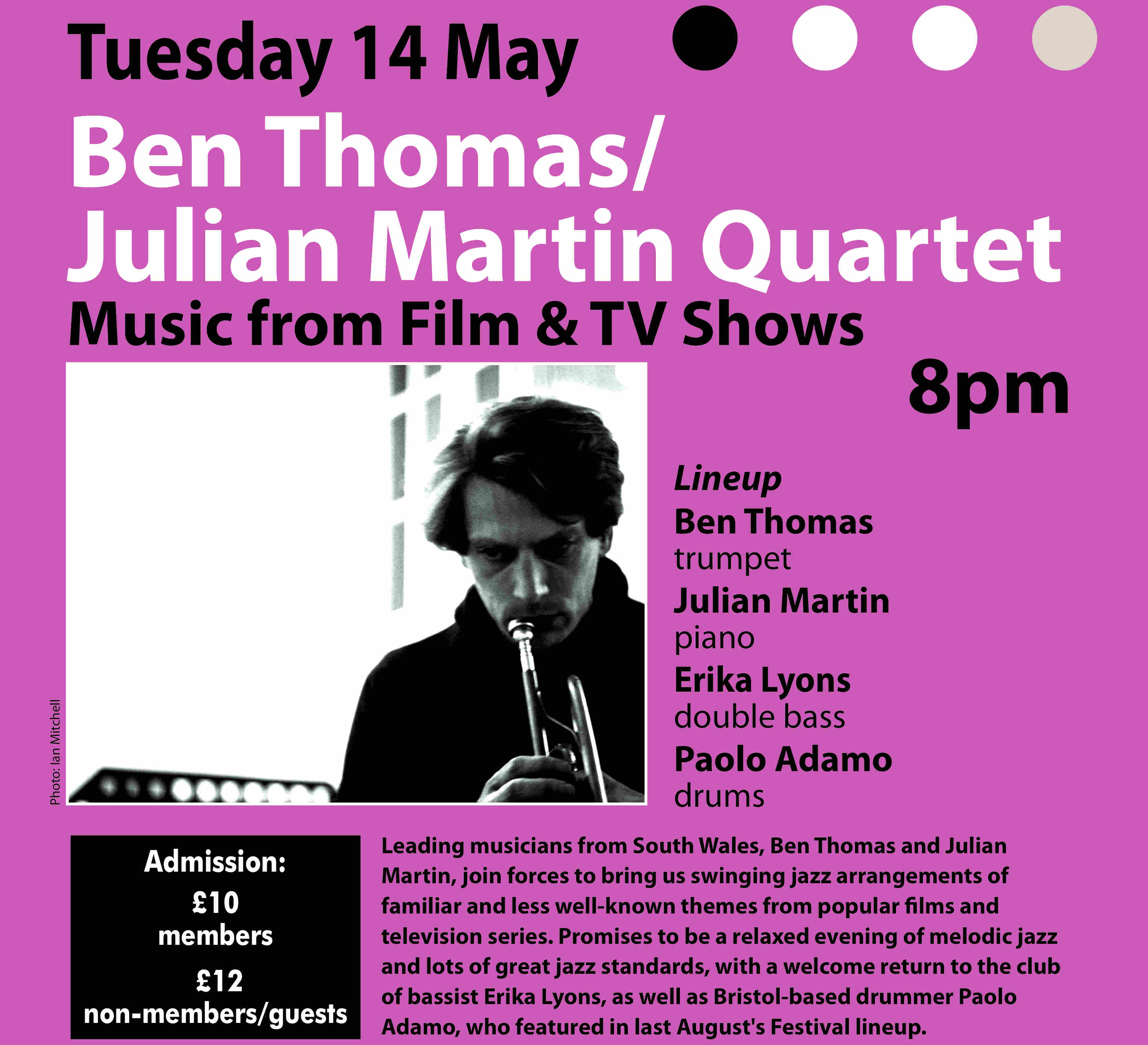 THOMAS / MARTIN QUARTET __ TicketSource Book and Pay here