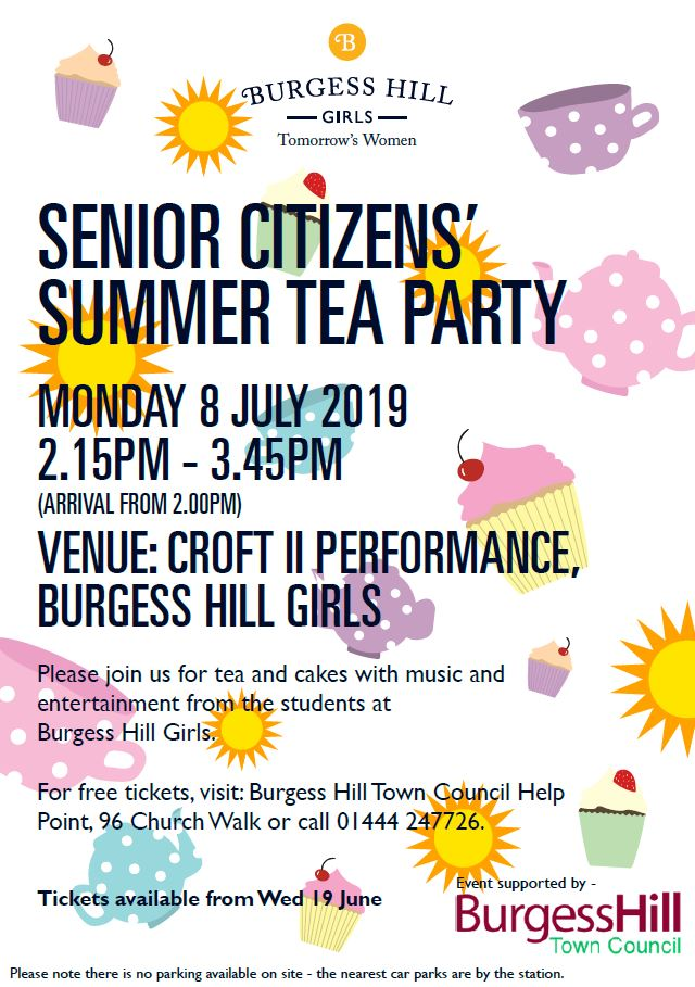 Senior Citizen Summer Tea Party banner image