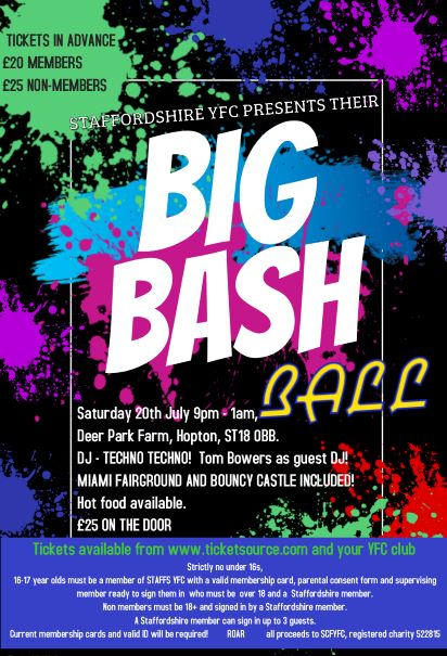 Staffs YFC Big Bash Ball banner image