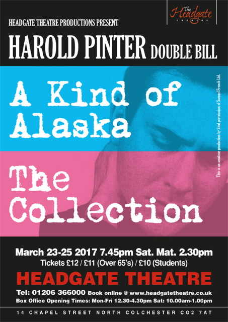 A Kind Of Alaska The Collection By Harold Pinter At Headgate Theatre Event Tickets From TicketSource