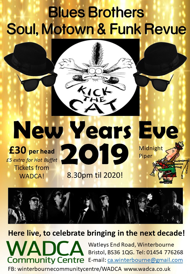 WADCA New Years Eve with 'Kick the Cat' & Piper 'STANDARD TICKET' banner image