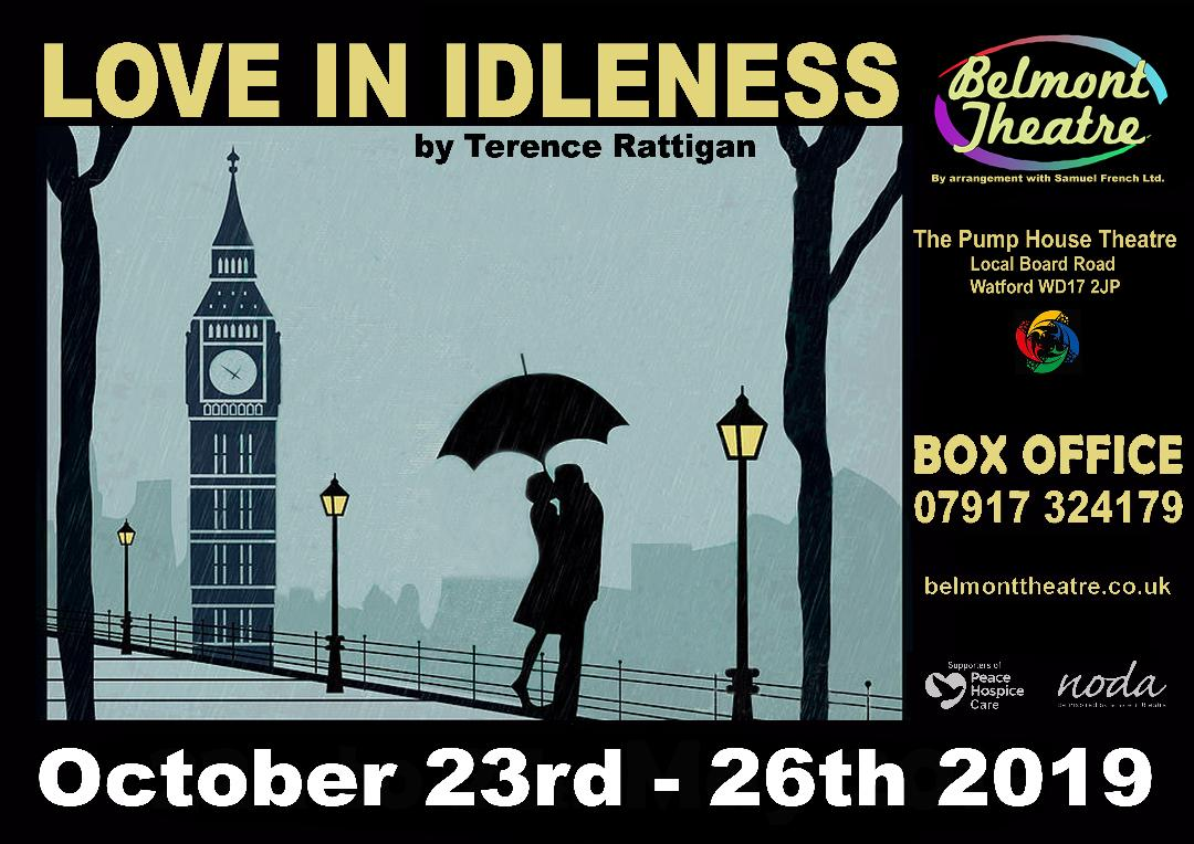 Belmont Theatre - LOVE IN IDLENESS by TERENCE RATTIGAN banner image