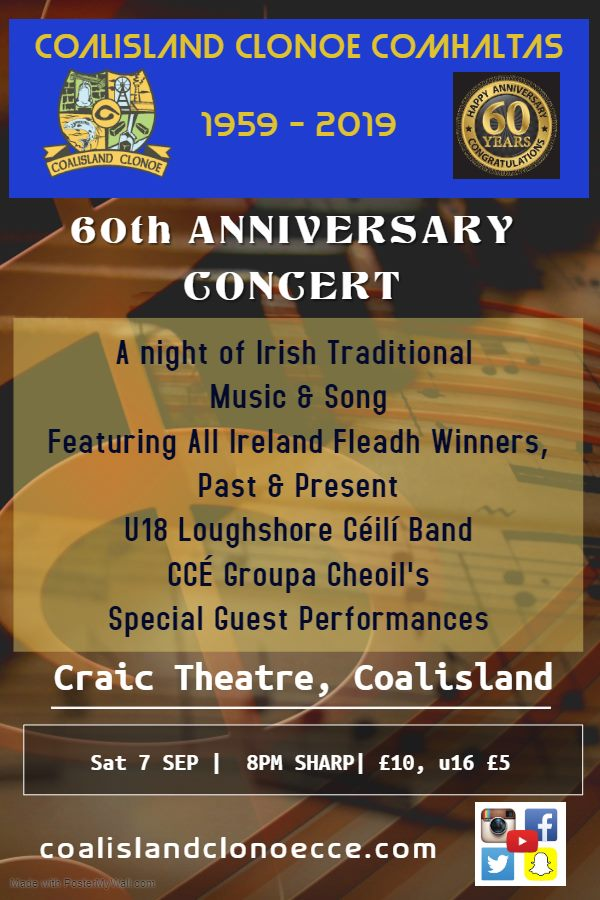 Coalisland/Clonoe CCE 60th Anniversary Concert banner image