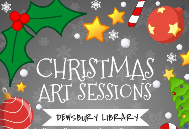 christmas art sessions wreath making at dewsbury library event