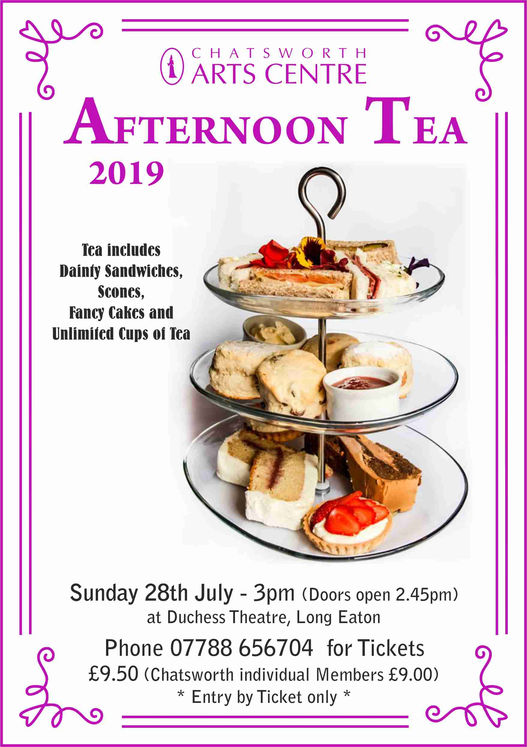 AFTERNOON TEA - Chatsworth Arts Centre banner image