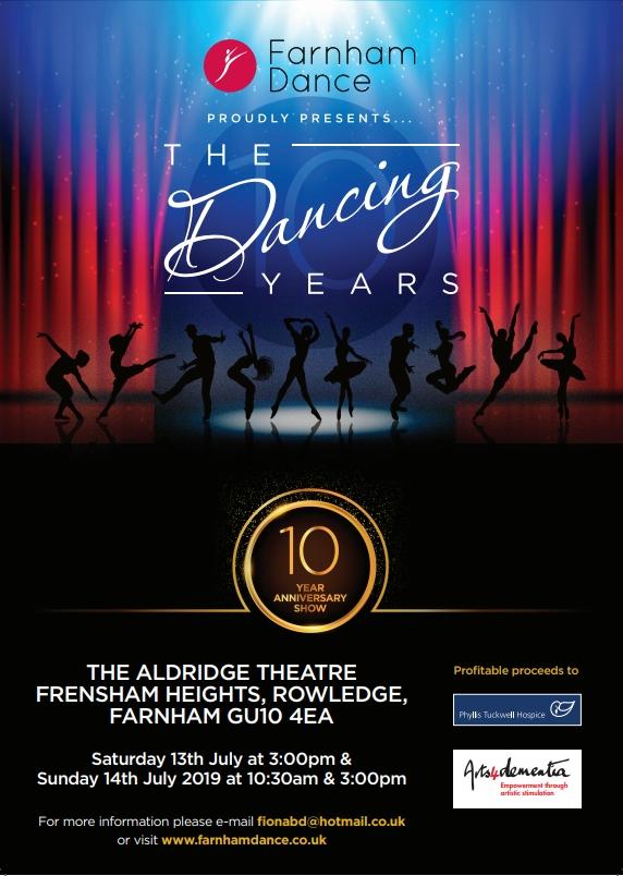 "Farnham Dance - Summer Show 2019 ""The Dancing Years"" banner image"