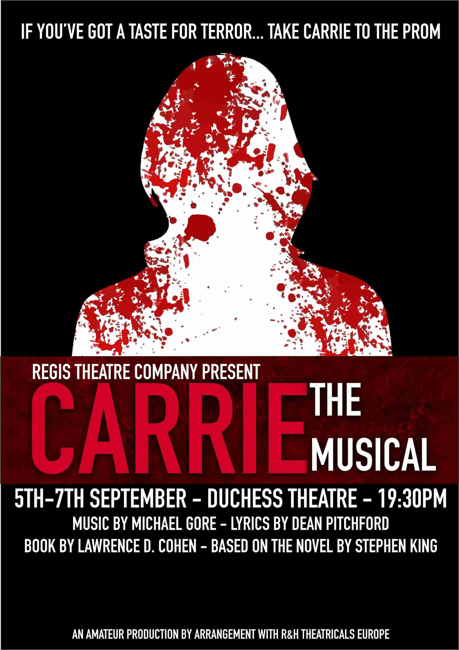 CARRIE The Musical - Regis Theatre Company banner image