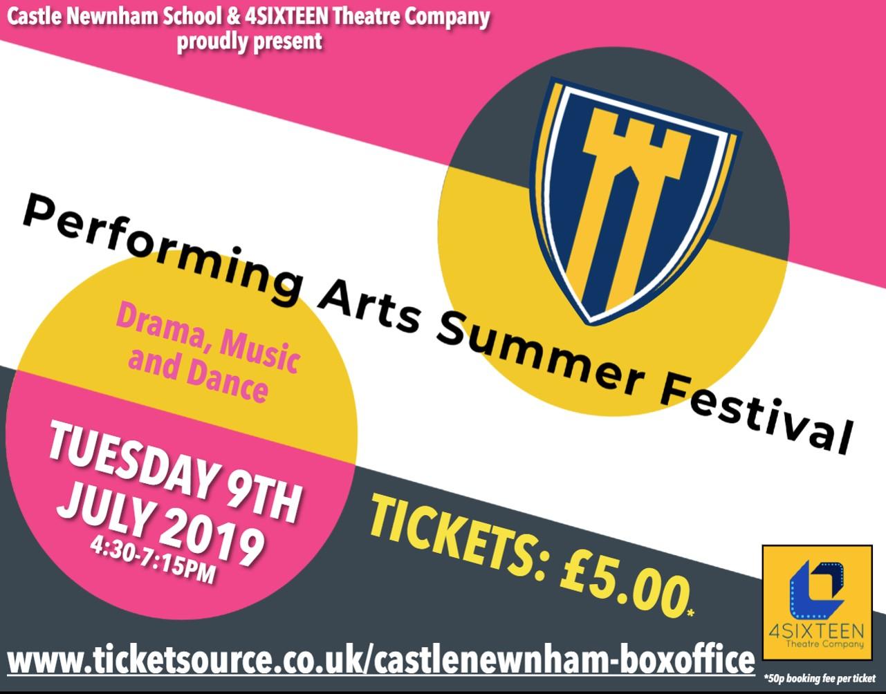 Performing Arts Summer Festival banner image