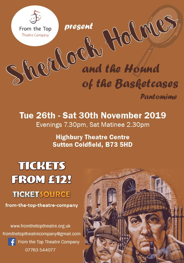 Sherlock Holmes and the Hound of the Basketcases - The Pantomime banner image