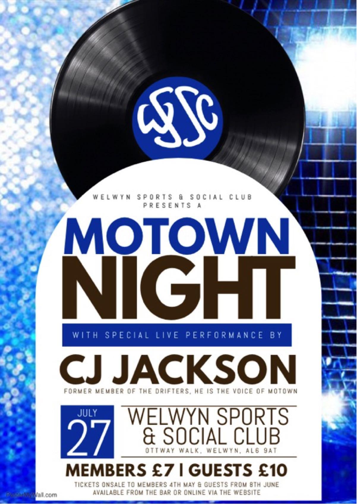 Soul & Motown Night with CJ Jackson banner image