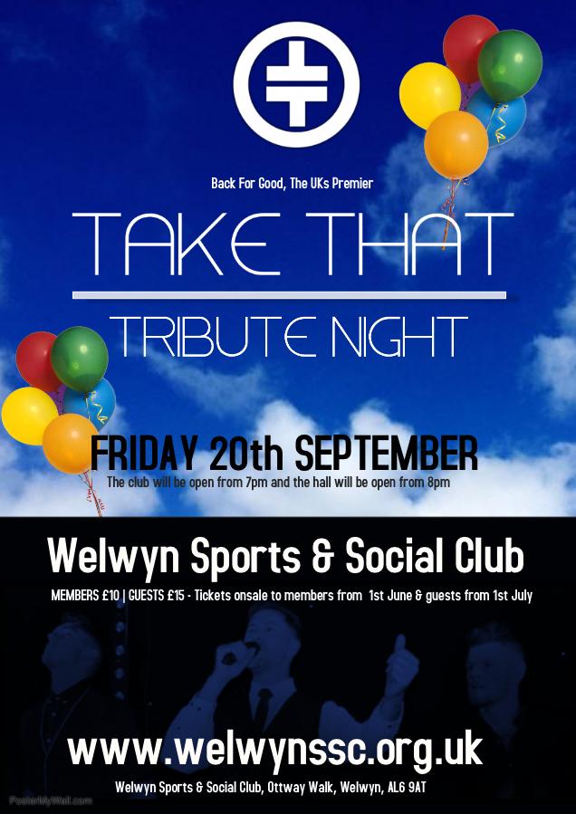 Take That Tribute Night banner image