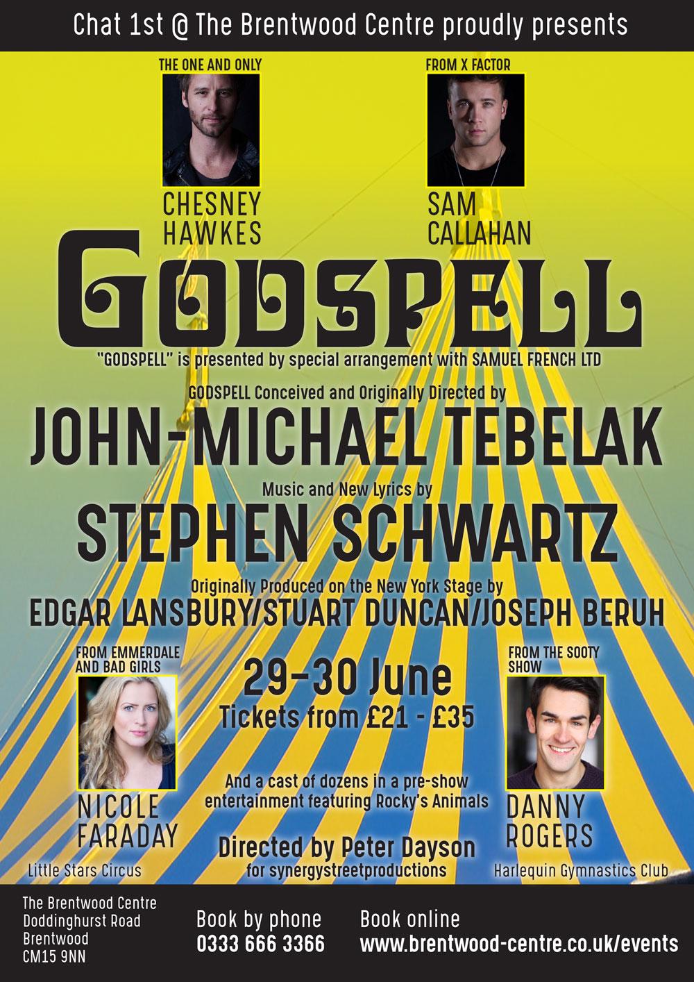 GODSPELL starring Chesney Hawkes banner image