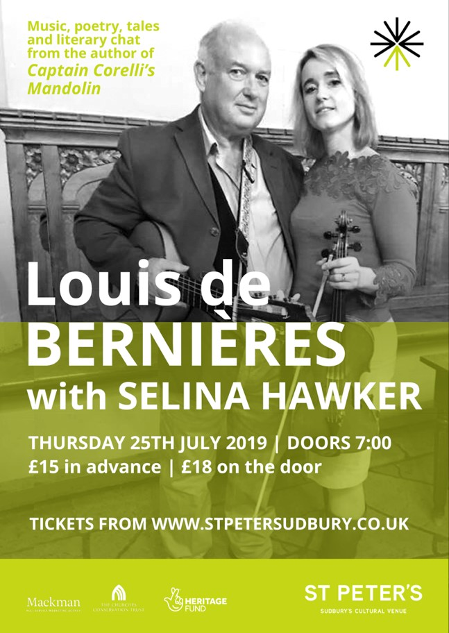 Louis de Bernieres with Selina Hawker banner image