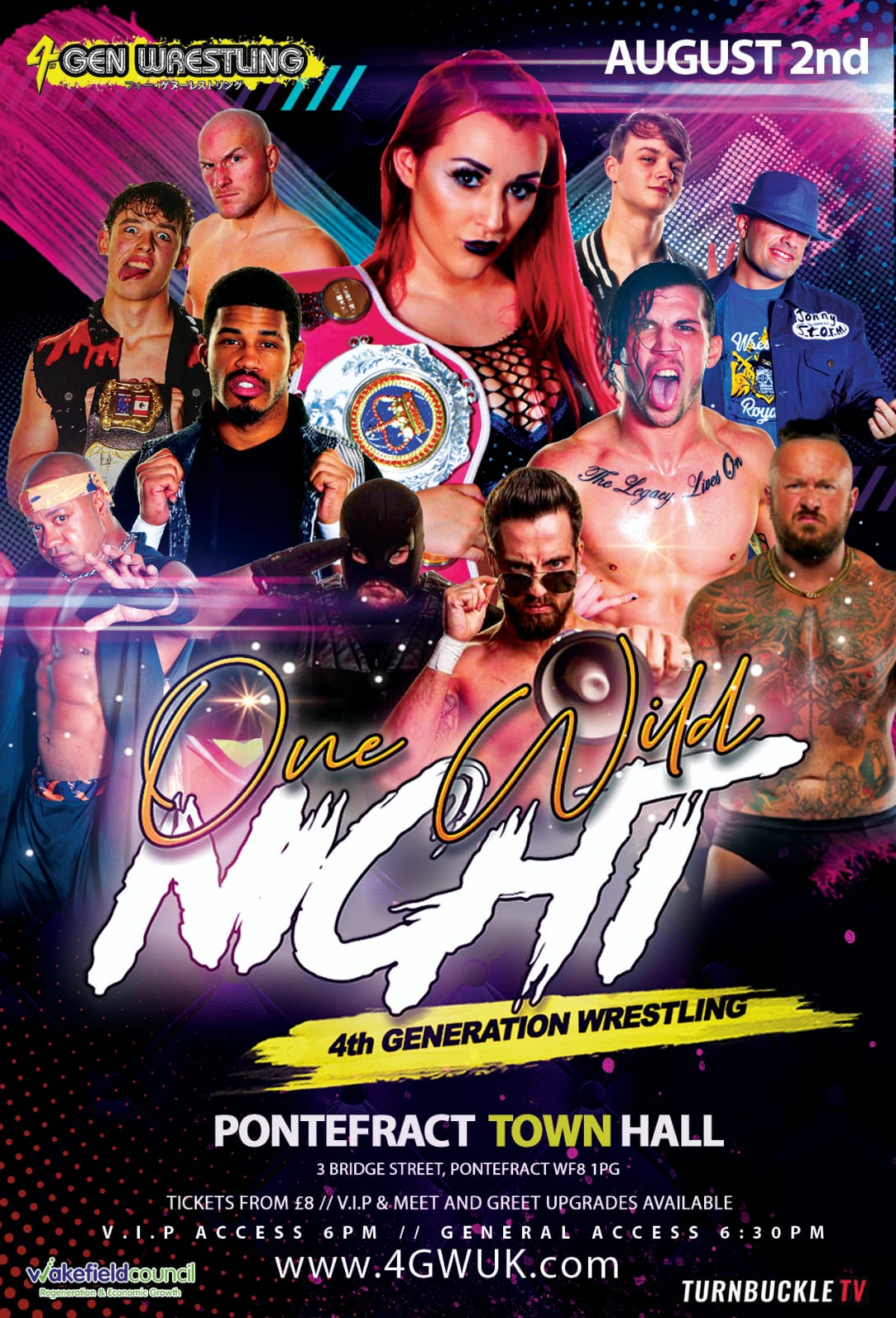 One Wild Night LIVE WRESTLING banner image
