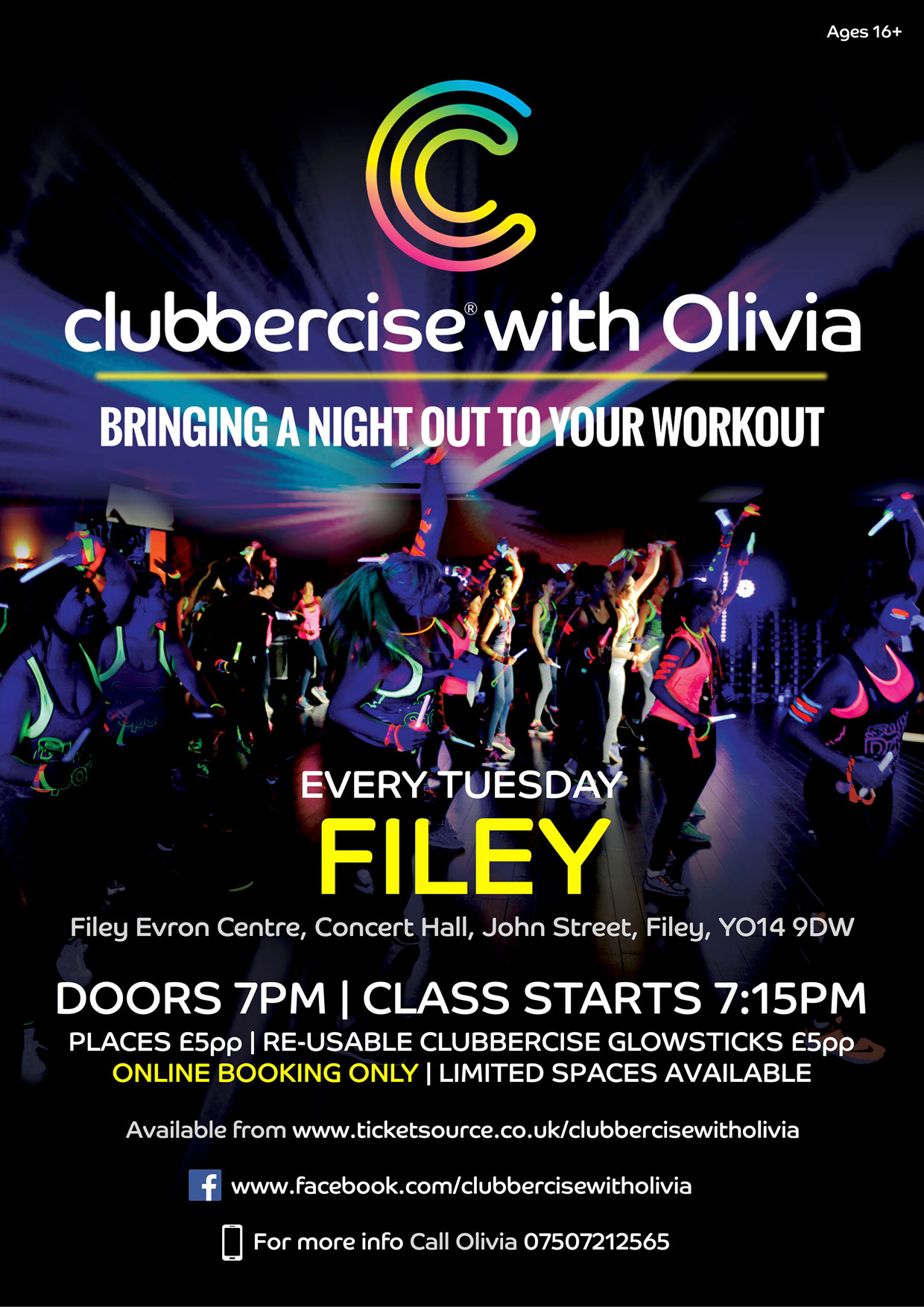 CLUBBERCISE® with Olivia - Filey banner image