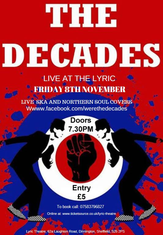 The Decades at The Lyric Theatre & Venue event tickets from