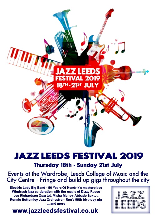 Jazz Leeds Festival 2019 Friday 19 July Day Ticket banner image