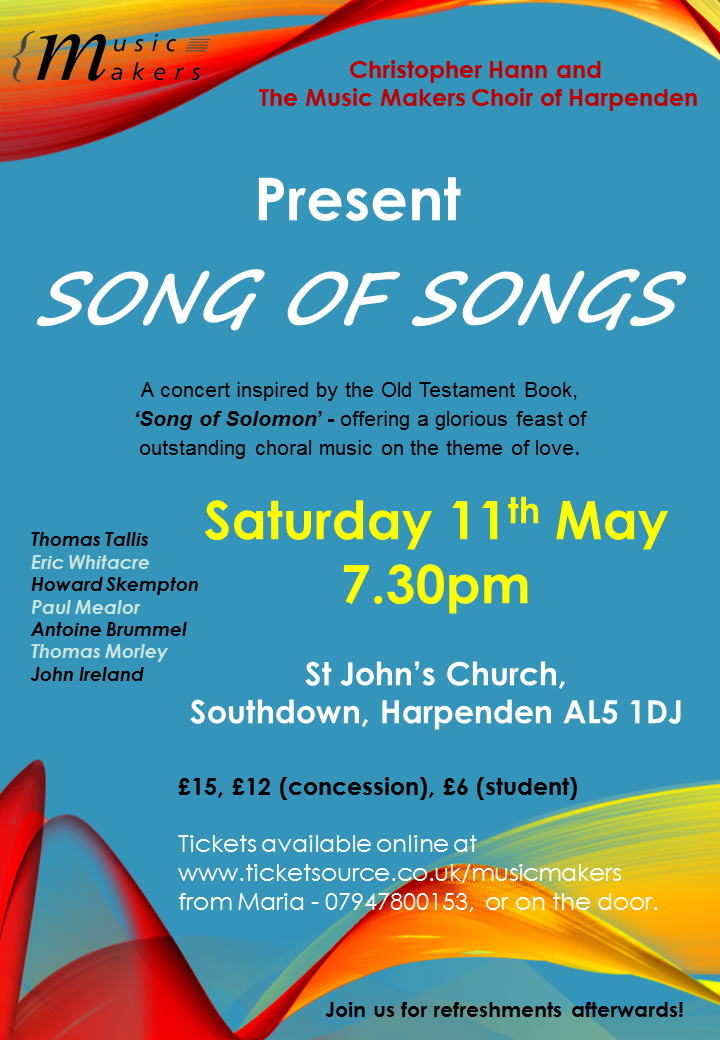 Song of Songs at St Johns Church, Harpenden  event tickets from