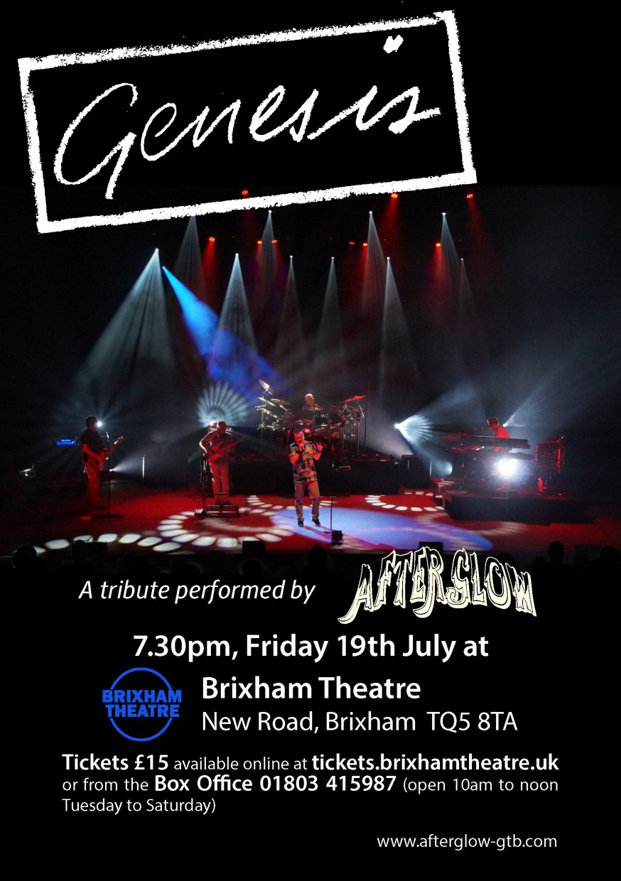 Afterglow Genesis Tribute Band At Brixham Theatre Event Tickets From