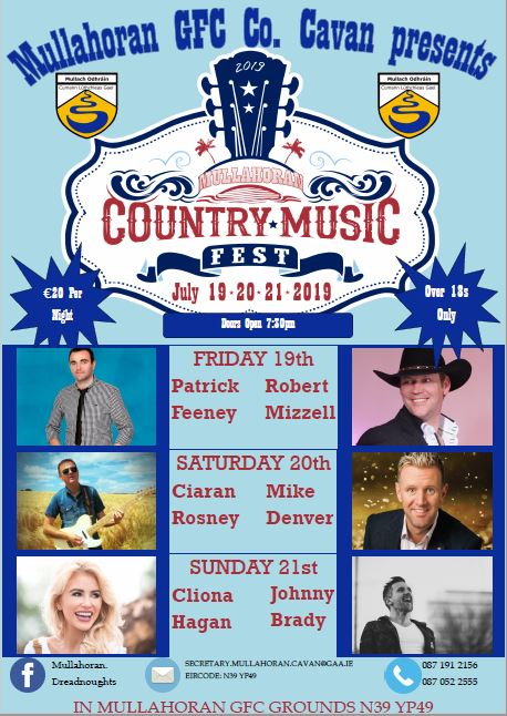 Mullahoran Country Music Festival - JULY 19-21 2019 banner image