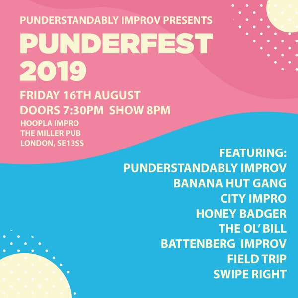 Punderfest 2019 - The Improv Festival For One Night Only banner image