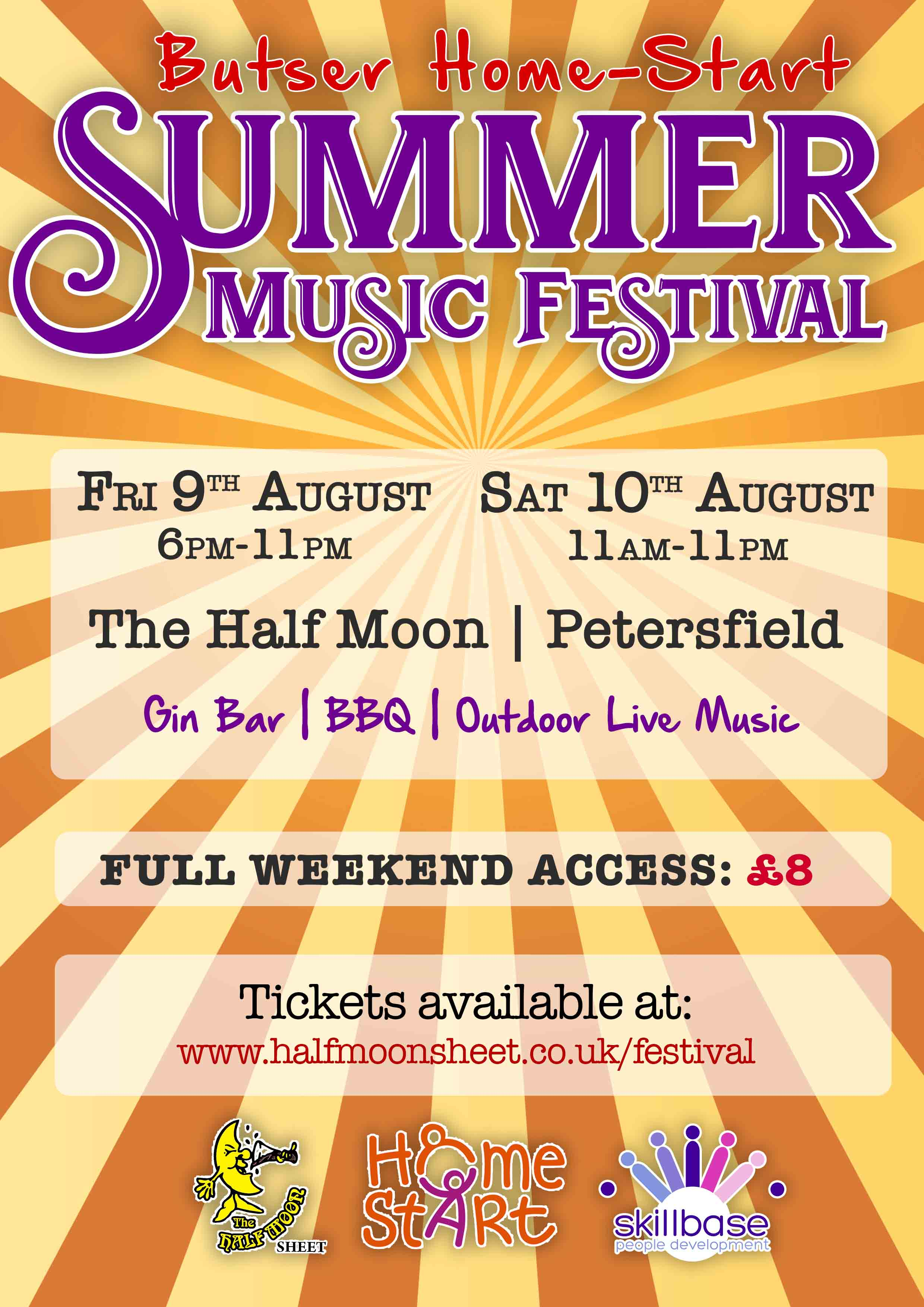 Home-Start Butser Summer Music Festival @ The Half Moon, Sheet banner image