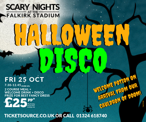 Halloween Disco.Halloween Disco Party At The Falkirk Stadium Event Tickets From