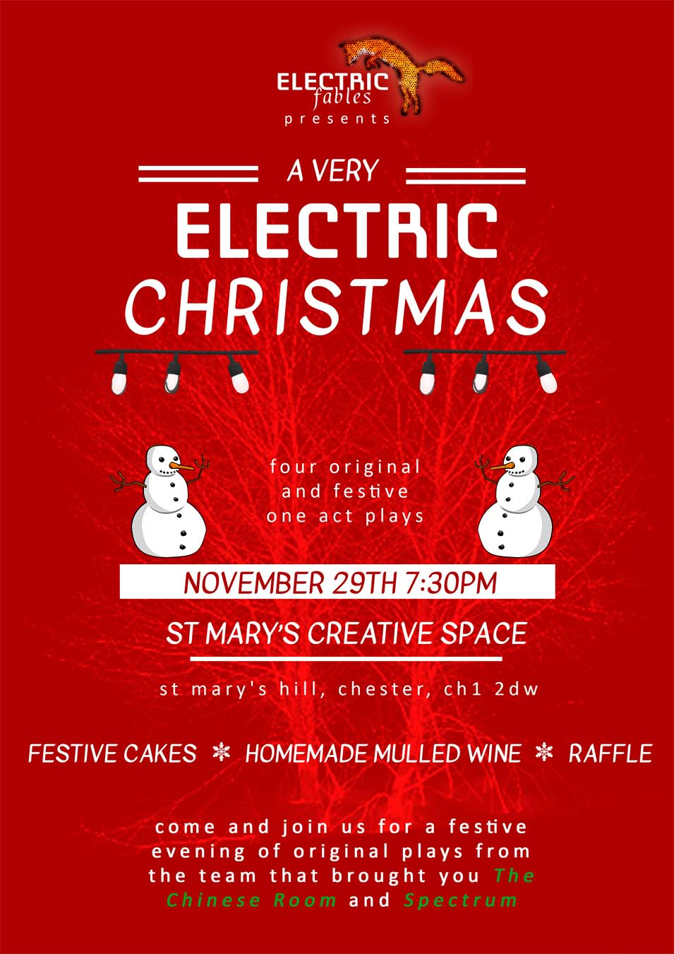 A Very Electric Christmas.A Very Electric Christmas At St Mary S Creative Space Event