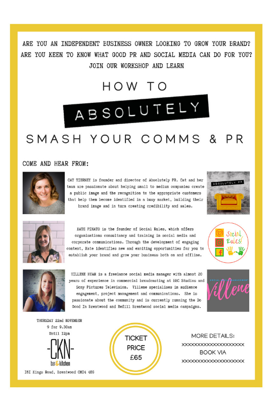 How To ABSOLUTELY Smash Your Comms & PR at CKN Bar & Kitchen