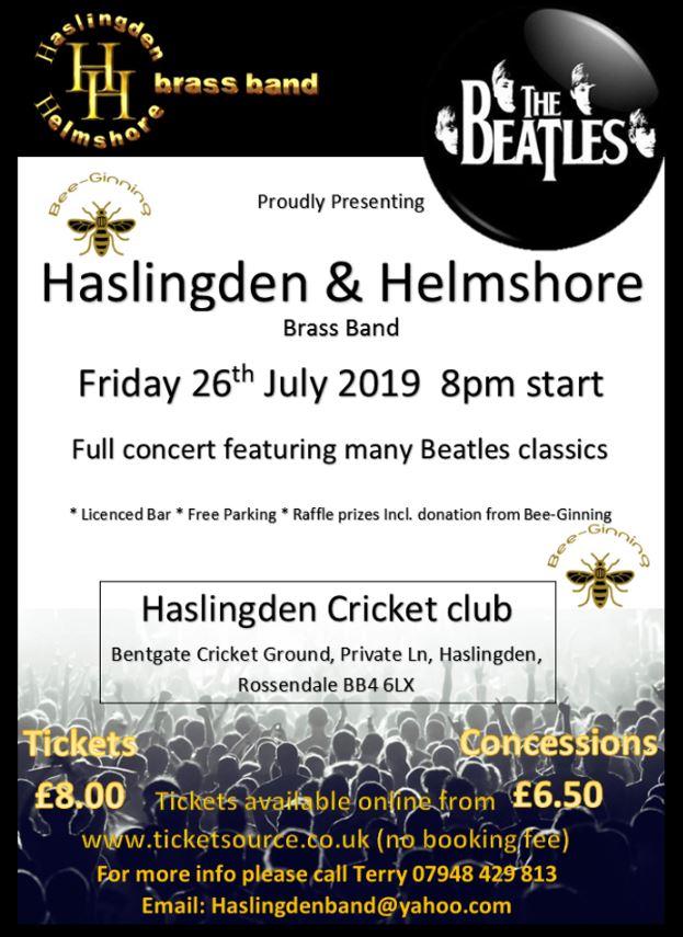 Haslingden & Helmshore Brass Band In Concert banner image