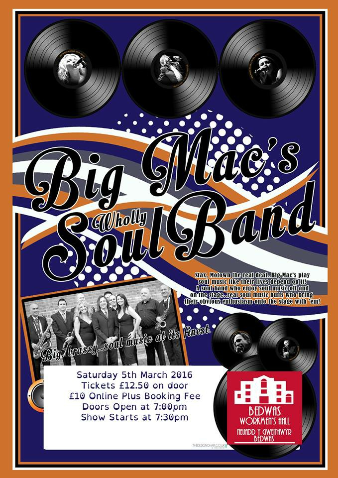 Big Mac's Wholly Soul Band at BEDWAS WORKMEN'S HALL event