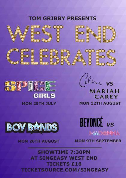 West End Celebrates - Boy Bands banner image