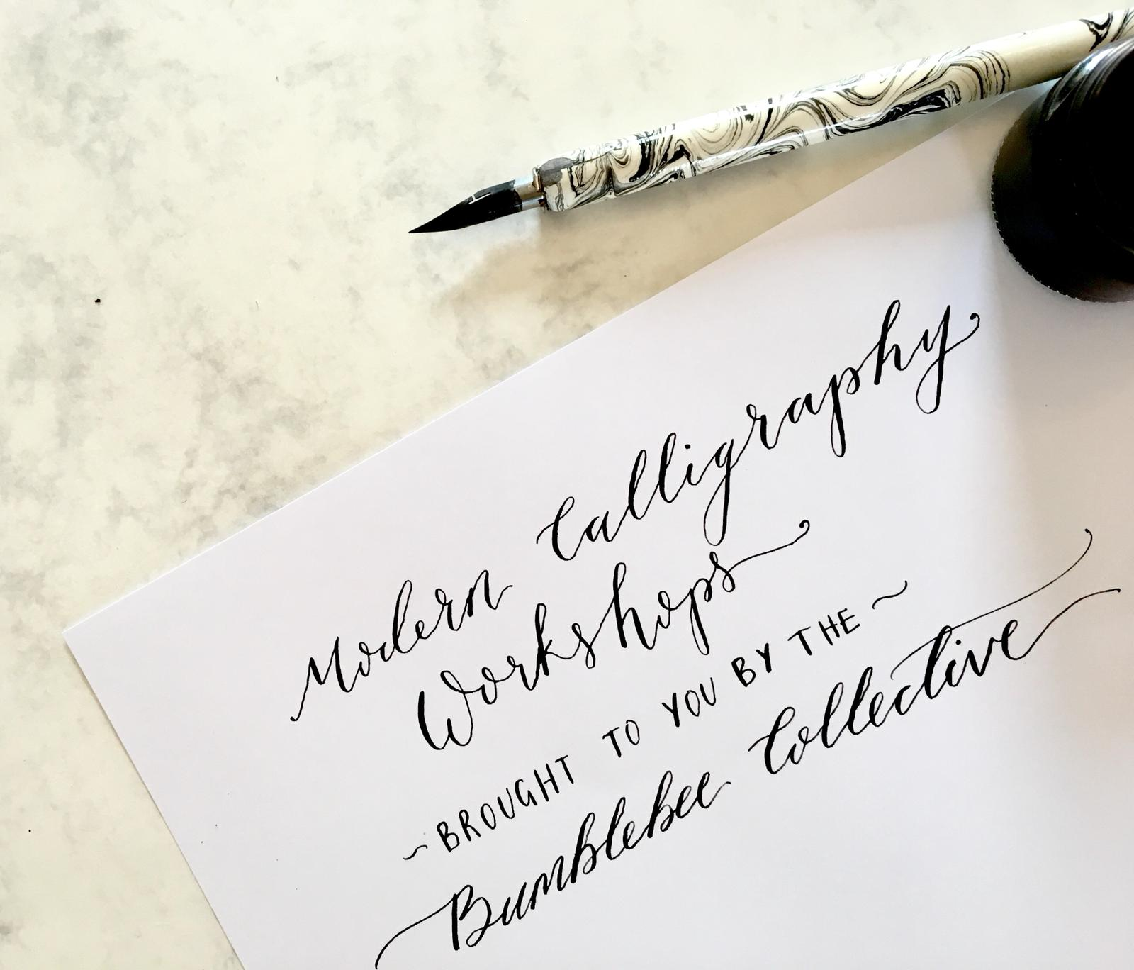 Modern Calligraphy Workshop at The Barns at Redcoats at The