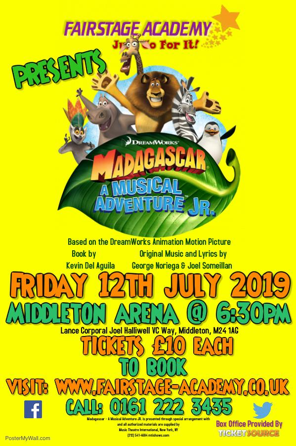 Madagascar - A Musical Adventure JR. - Schools ONLY Performance banner image