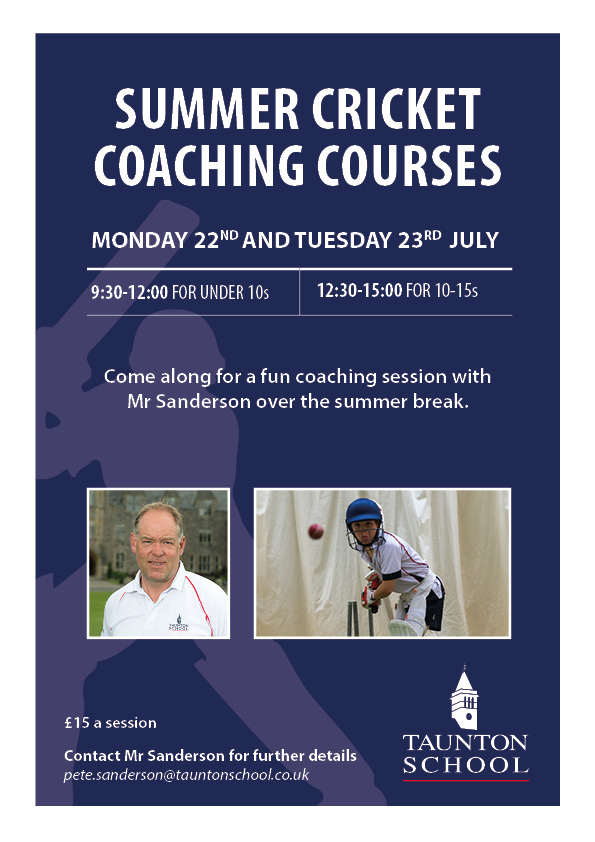 Summer Cricket Coaching Courses - Under 10s banner image