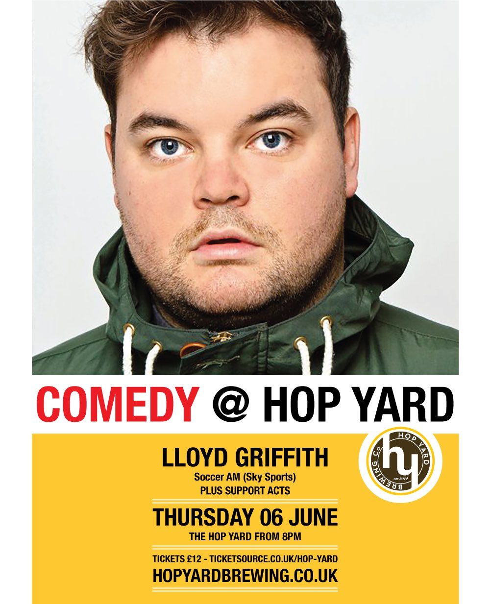 Comedy at Hop Yard - Lloyd Griffith banner image
