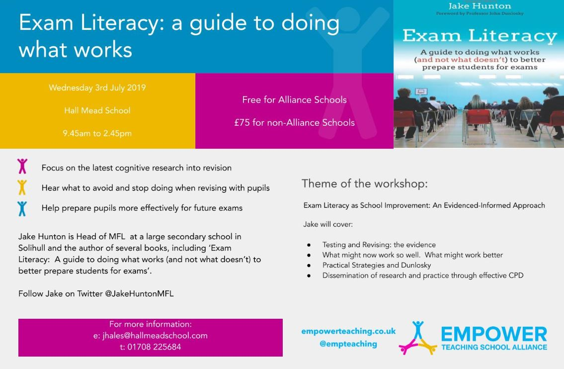 Exam Literacy: a guide to doing what works banner image